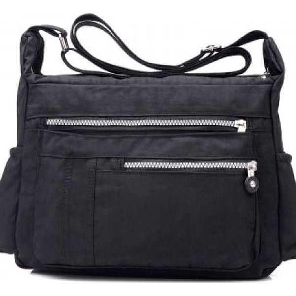 Ležérní dámská kabelka - černá barva - dodání do 2 dnů