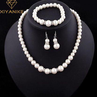 Elegantní sada šperků z umělých perliček
