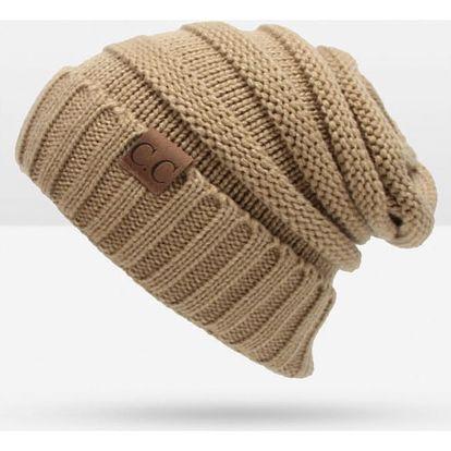 Unisex zimní čepice - krémová - dodání do 2 dnů
