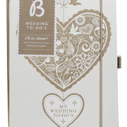 Busy B Svatební plánovací notes Bride to B Heart, béžová barva, bílá barva, krémová barva, papír
