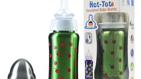 PACIFIC BABY Hot-Tot Termoska 200 ml zelená-třešně