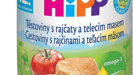 6x HIPP BIO rajčata s těstovinami a telecím masem (220 g) - maso-zeleninový příkrm