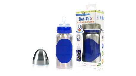 PACIFIC BABY Hot-Tot Termoska 200 ml modrá/stříbrná