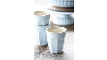 IB LAURSEN Latte hrneček Mynte Stillwater 250 ml, modrá barva, keramika
