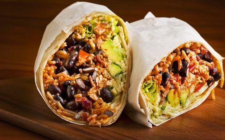 Burrito, quesadilla nebo vege miska a limonáda