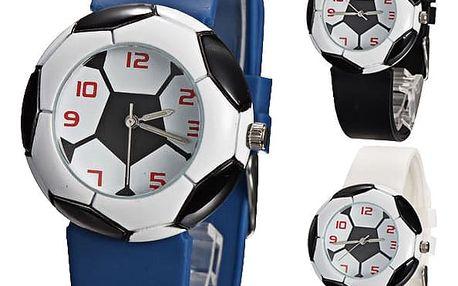 Silikonové hodinky s motivem fotbalového míče