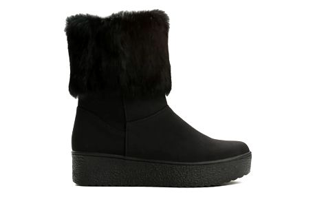 Dámské černé kotníkové boty Brida 2146