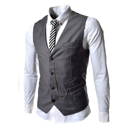 Pánská společenská vesta Elegance šedá