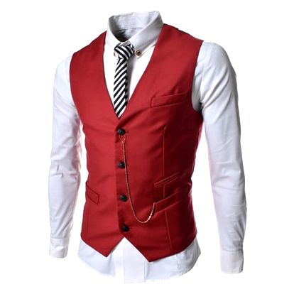 Pánská společenská vesta Elegance červená