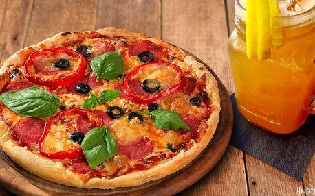 Poctivá pizza a pití v zdravé italské restauraci