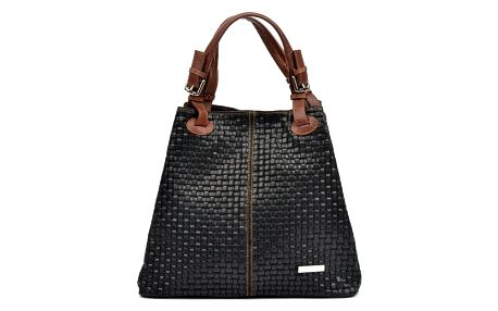 Černá kožená kabelka Isabella Rhea Ariya - doprava zdarma!
