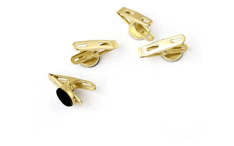 MONOGRAPH Magnetické klipsy Brass - set 4 ks, zlatá barva, kov