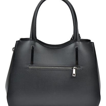 Černá kožená kabelka Sofia Cardoni Felicity - doprava zdarma!