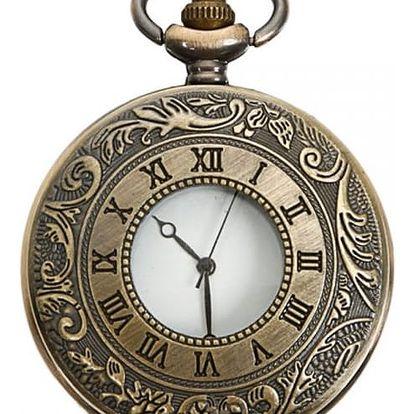 Kapesní cibulové hodinky s římskými číslicemi