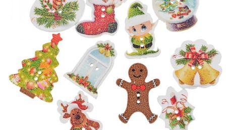 50 vánočních knoflíků