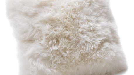 Bílý polštář z ovčí kožešiny Royal Dream Sheepskin, 30x30cm