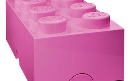 LEGO Storage box 25x50 cm, růžová