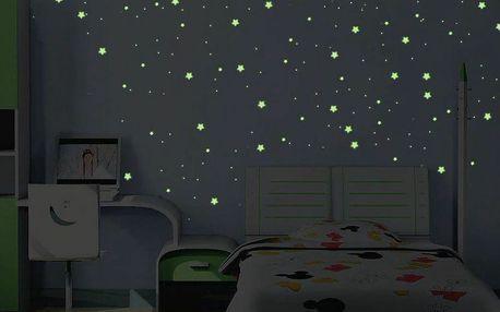 Ambiance Zářící nástěnné samolepky Hvězdy a planety
