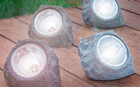 Umělý Solární Kámen 4 LED