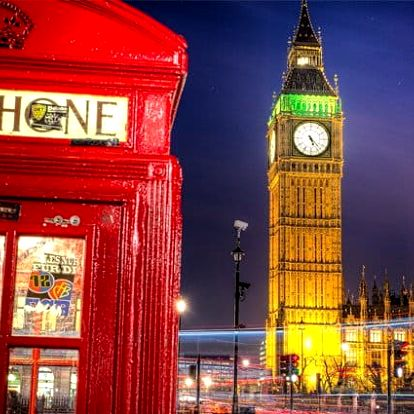 5denní zájezd pro 1 do Londýna s návštěvou Stonehenge a Oxfordu