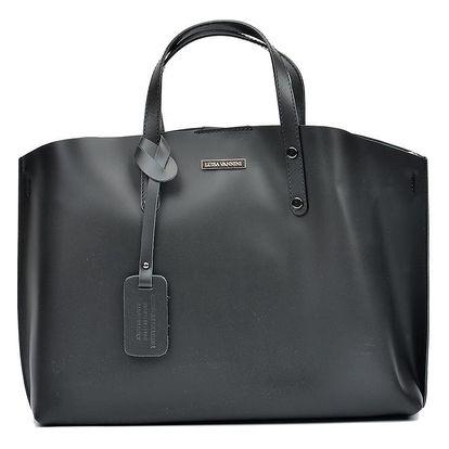 Černá kožená kabelka Luisa Vannini Theresse - doprava zdarma!