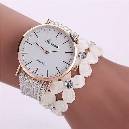Dámské hodinky s květinovým páskem