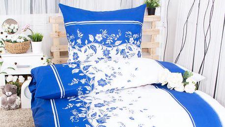 Hermann Cotton Bavlněné povlečení na dvě lůžka OTÝLIE - modrobílá 140x200 ,70x90