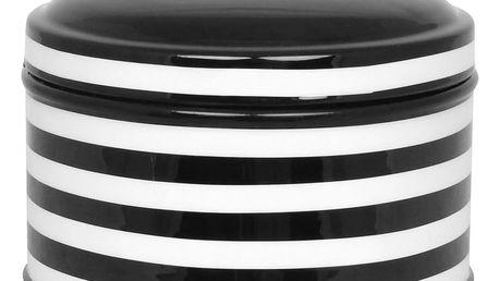 Černo-bílá dóza Strömshaga Dagny Stripes