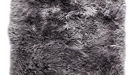 Šedý koberec z ovčí kožešiny Royal Dream Zealand, 140x70cm - doprava zdarma!