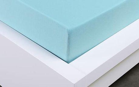 XPOSE ® Jersey prostěradlo jednolůžko - světle modrá gramáž 150g/m 180x200 cm