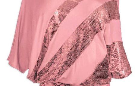 Volné tričko s flitry - 13 barev