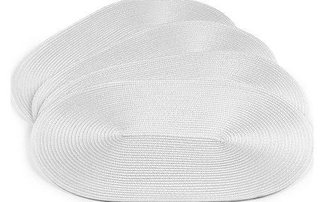 Jahu Prostírání Deco ovál bílá, sada 4 kusů, 30x45 cm