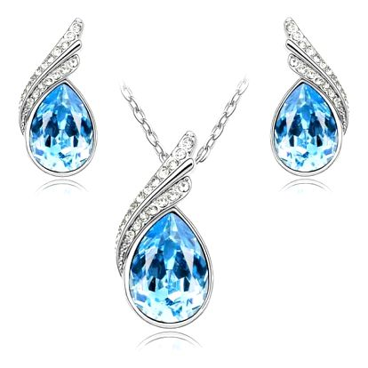Šperky s kamínky z broušeného skla