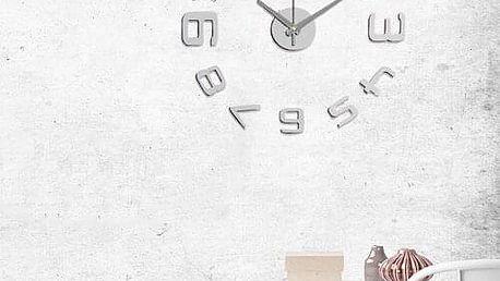 Nástěnné hodiny číslice stříbrná, Stardeco HM-10EM109S