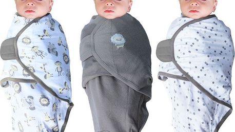 BO JUNGLE B-Wrap 3-pack zavinovačky Small (3,2-6,4 kg) JUNGLE