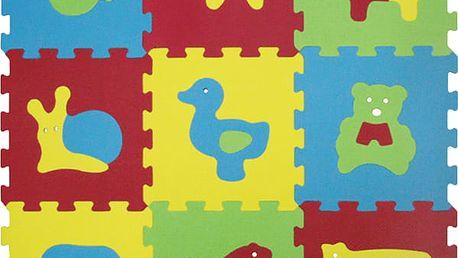 LUDI Puzzle pěnové 84x84 cm zvířátka Basic 9 ks