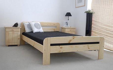 Dřevěná postel Klaudia 160x200 + rošt ZDARMA borovice