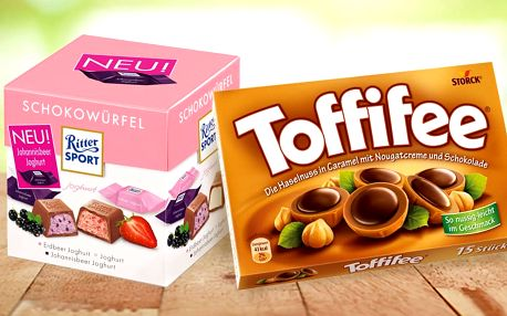 Bonboniéry Toffifee nebo čokoládky Ritter Sport