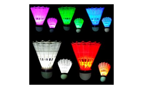 Svítící badmintonový košíček