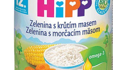 6x HIPP Jemná zelenina s krůtím masem (220 g) - maso-zeleninový příkrm
