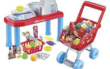 G21 27875 Hrací set Dětská pokladna + nákupní vozík s příslušenstvím