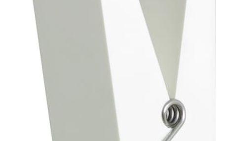 Bílý věšák ve tvaru kolíčku Swab