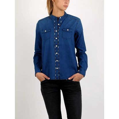 Košile Replay INDIGO OXFORD Modrá