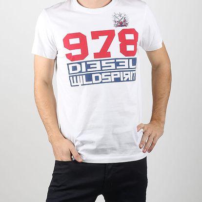 Tričko Diesel T-Diego-Iw Maglietta Bílá
