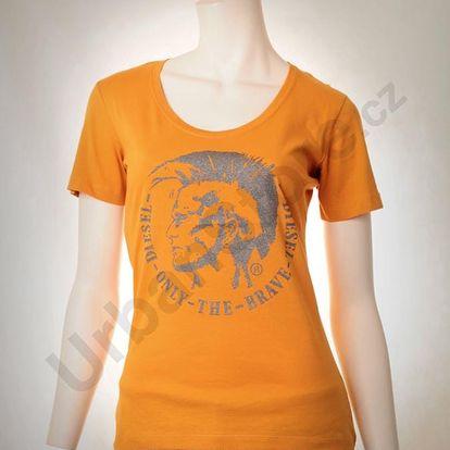 Tričko Diesel T-MANGA MAGLIETTA Oranžová