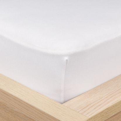 4Home Jersey prostěradlo s elastanem bílá, 90 x 200 cm