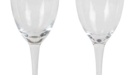 sass & belle Sklenice na šampaňské Mr & Mrs MRS, čirá barva, sklo