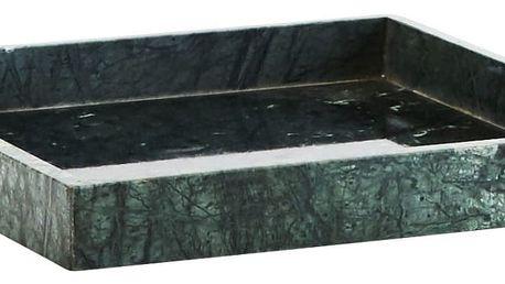 MADAM STOLTZ Mramorový tác Green 30x30 cm, zelená barva, mramor