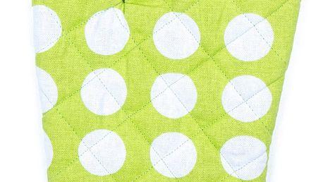4Home Chňapka Zelený puntík, 18 x 30 cm