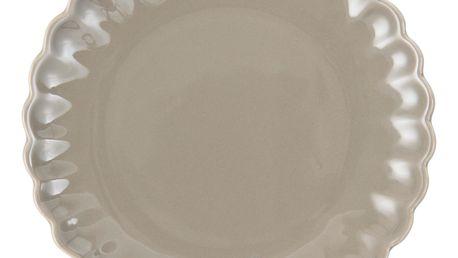 IB LAURSEN Talíř Mynte milky brown, hnědá barva, keramika